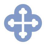 Blue Logo quatrefoil